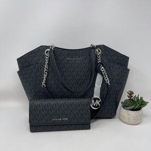Michael Kors JST Large Chain Shoulder Bag Set